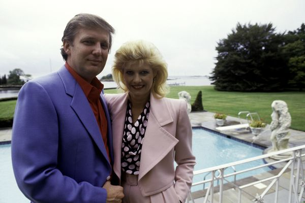 At home with Ivana Trump in Greenwich, Connecticut.