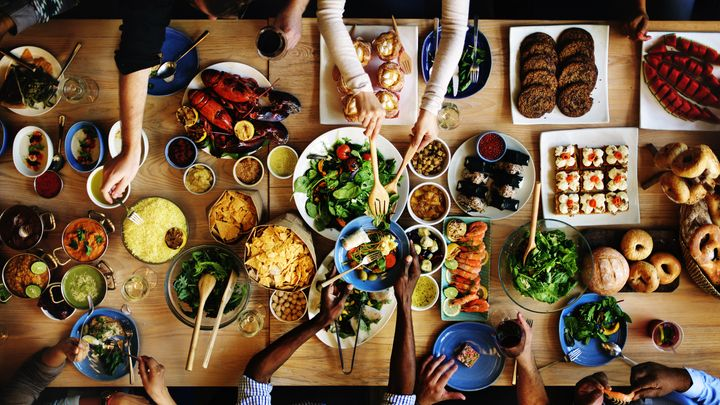 <p>Look at all that food!</p>