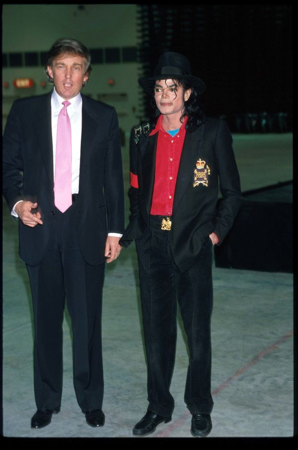 With Michael Jackson at the opening of Taj Mahal hotel and casino in Atlantic City, NJ.