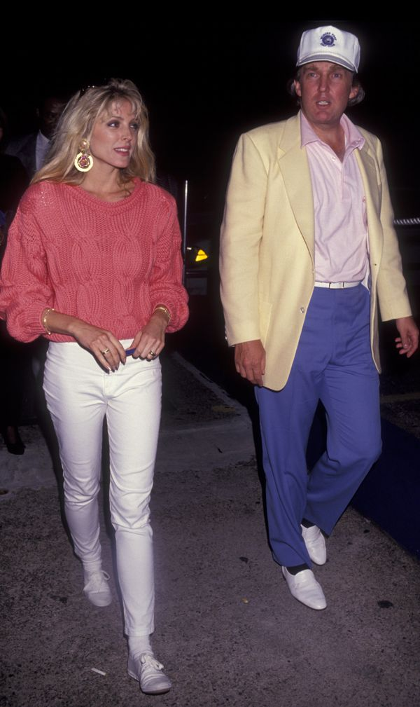 With Marla Maples at The Look of the Year Benefit Press Partyin New York City.