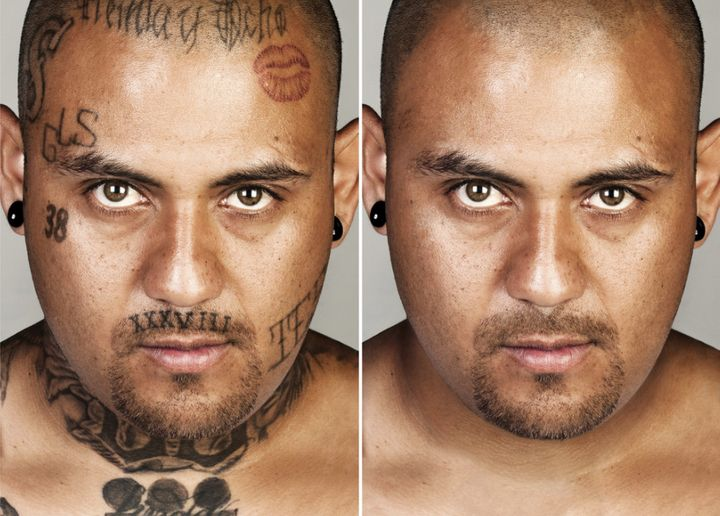 """""""I want people to see me for me. Not to see my tattoos first. My tattoos don't say nothing about me no more. It is a past life."""" -- Francisco Flores,in the"""