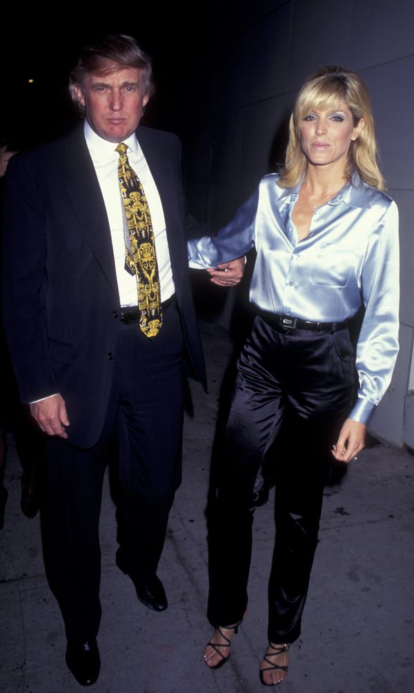With Marla Maples in New York City.