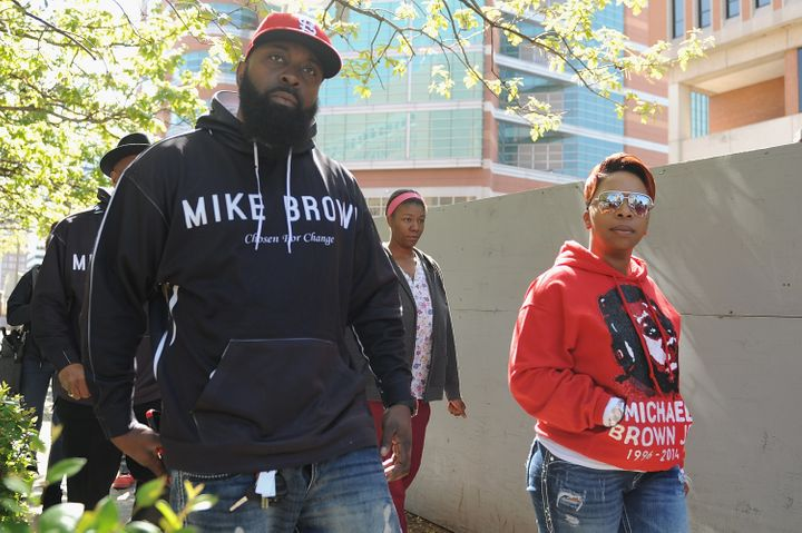 Michael Brown's parents, Michael Brown Sr. and Lezley McSpadden.