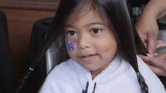 Little girls are donating their hair to help cancer patients
