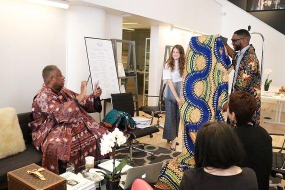 Saint Louis Fashion Incubator Designers Audra Noyes & Reuben Reuel with André Leon Talley