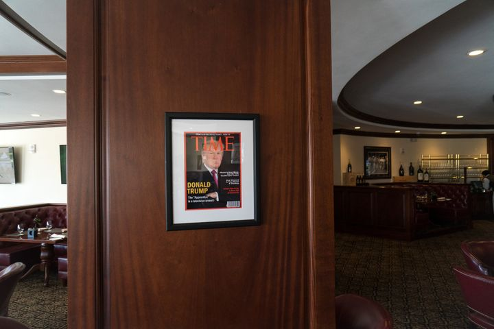 Fake TIME magazine covers displayed at Donald Trump's golf club locations