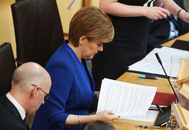 Nicola Sturgeon in Scottish Parliament this week said her plans for indy ref 2 were on