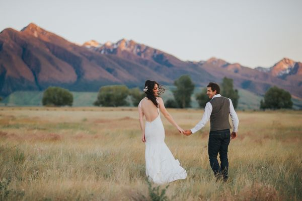 """""""Nick andMcCall were married among family and friends in the Montana mountains."""" --<i>Fran Ze</i>"""