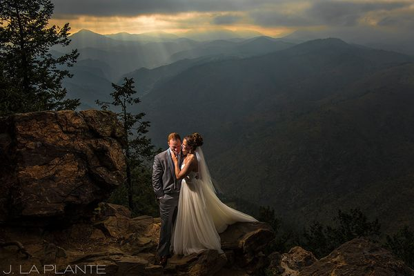 """""""The fog lifted and the clouds parted just in time for Kelly and Nick's portraits at Boettcher Mansion in Golden, Colorado."""""""