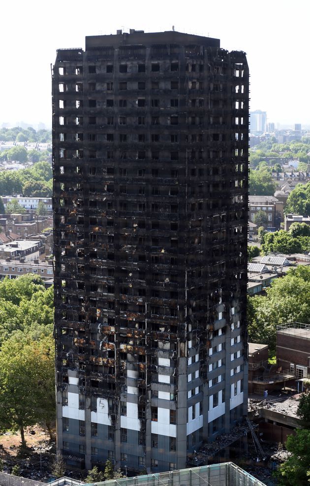 The remains of the Grenfell