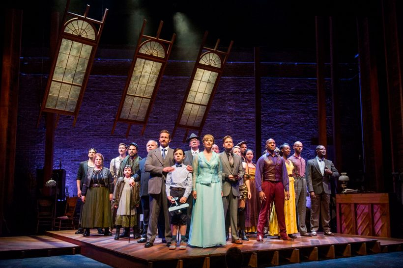 The cast of RAGTIME. RAGTIME Book by TERRENCE MCNALLY Lyrics by LYNN AHRENS Music by STEPHEN FLAHERTY Based on the novel Ragt
