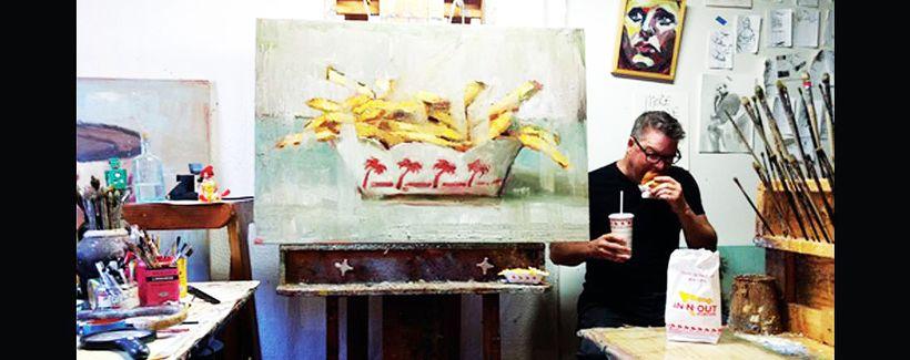 Bradford J. Salamon in his studio