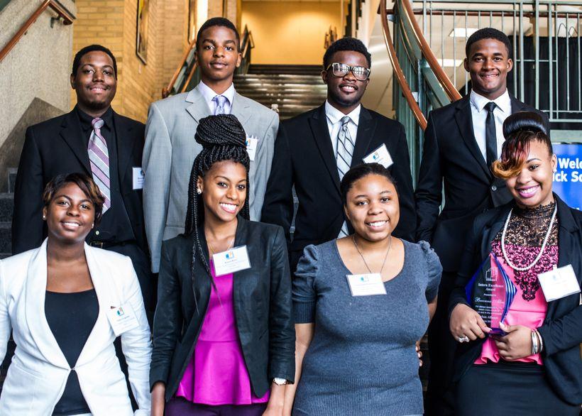 Interns in the Urban Alliance program.