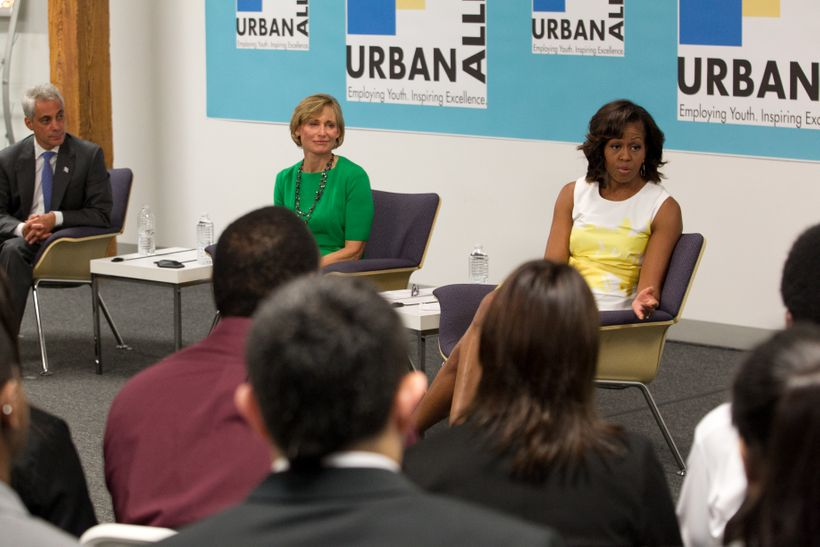 Former First Lady Michelle Obama at a 2013 Urban Alliance event.