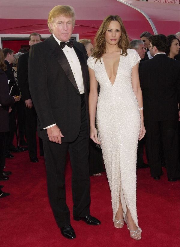 With Melania Knauss at the 73rd Annual Academy Awards in Los Angeles, California.
