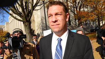 WASHINGTON, DC - NOVEMBER 20:   Rep. Henry 'Trey'  Radel (R-FL) exits DC Superior court after pleading guilty to misdemeanor charges of posession of cocaine on November 20, 2013.    On October 29th, according to the account provided by authorities, Radel and a friend met an undercover agent at a restaurant in Dupont Circle.  Radel invited the friend and the agent back to his home. The agent declined, and Radel purchased 3.5 grams of cocaine, estimated to be worth $250, in the officers car.  (Photo by Linda Davidson / The Washington Post via Getty Images)
