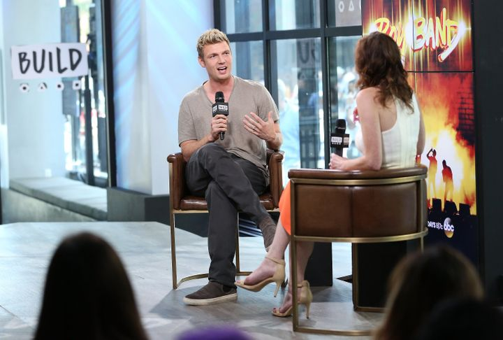 "Nick Carter discusses the new show ""Boy Band"" at Build on June 26, 2017, in New York."