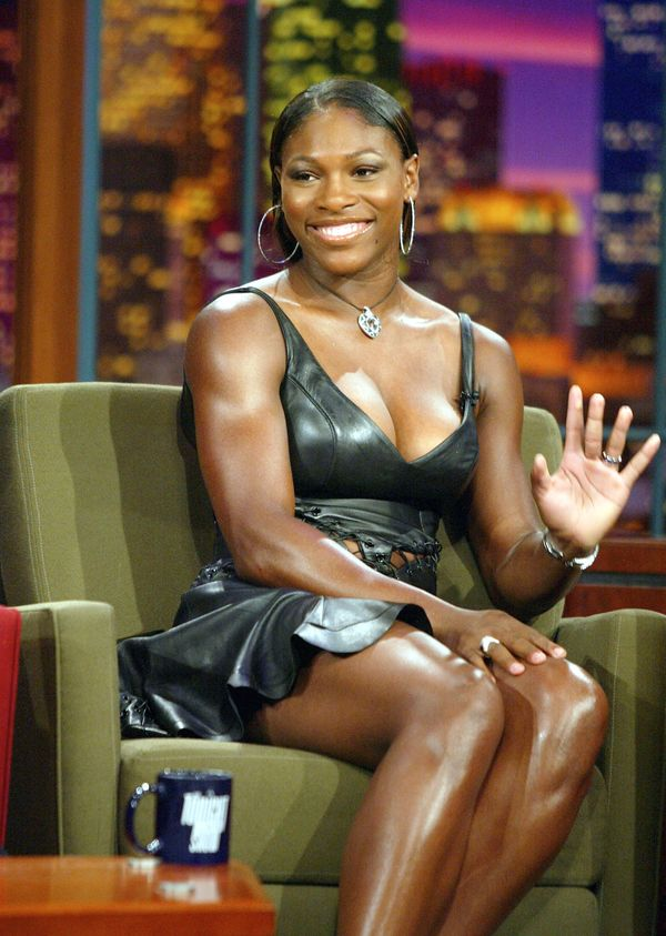 """Appearingon """"The Tonight Show with Jay Leno"""" at the NBC Studios on July 15, 2003, in Burbank, California."""