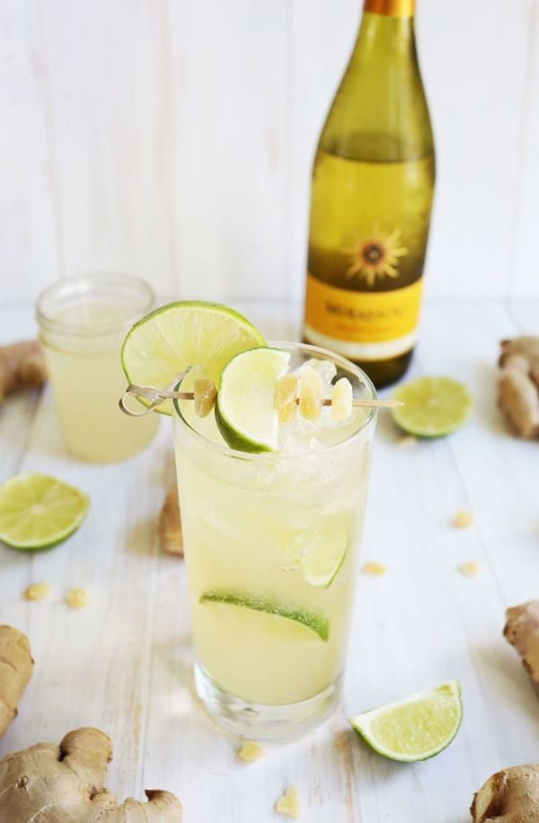 "<strong>Get the <a href=""http://www.abeautifulmess.com/2015/08/3-easy-white-wine-spritzers.html"" target=""_blank"">Ginger Lime"