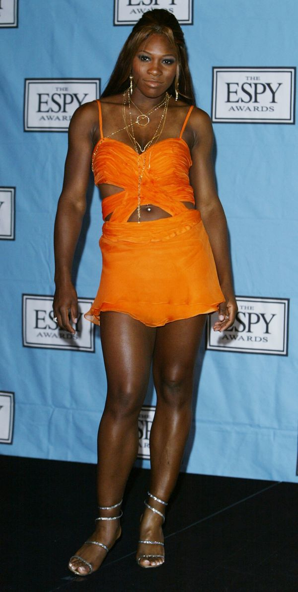 Posing backstage at the 12th Annual ESPY Awards on July 14, 2004, in Hollywood, California.