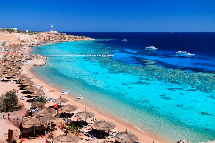 Ras Um Sid beach in Sharm el Sheikh.