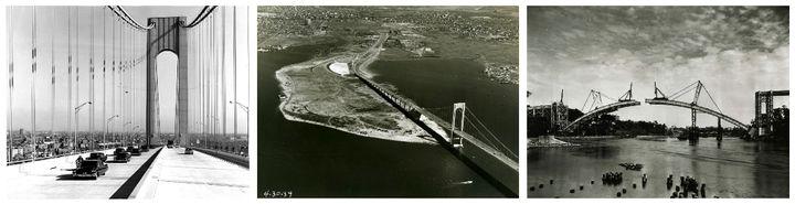 "Verrazano-Narrows Bridge 1964, Bronx-Whitestone Bridge 1939, The Henry Hudson Bridge 1936. Source: <a rel=""nofollow"" href=""ht"