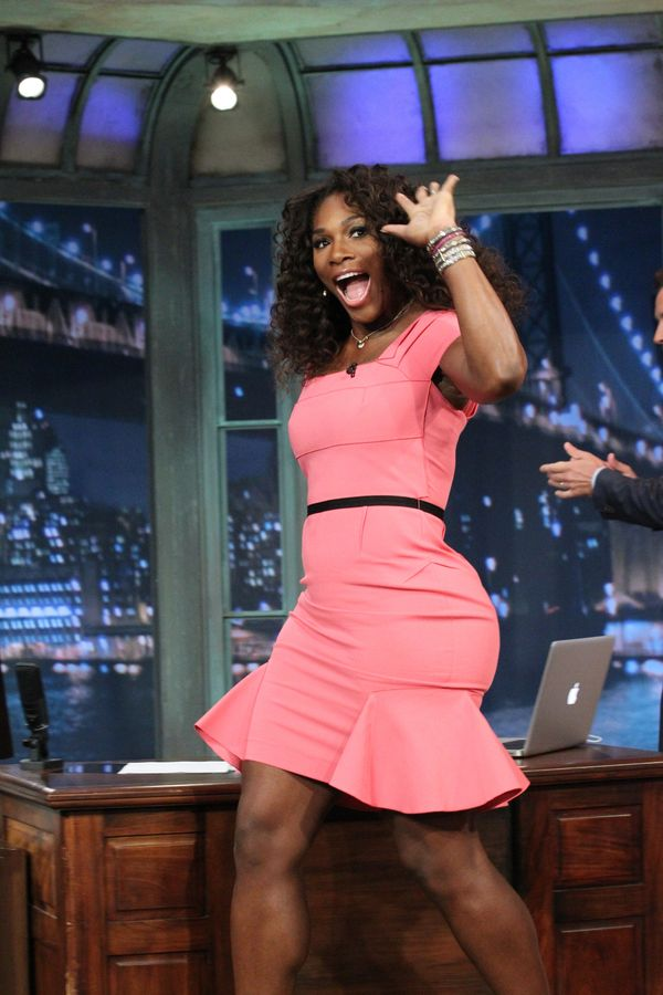 """Attending """"Late Night with Jimmy Fallon"""" on Sept. 10, 2012."""