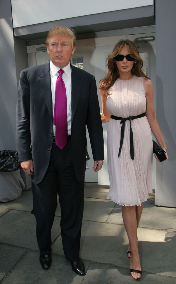 With Melania Trump at New York Fashion Week in New York City.
