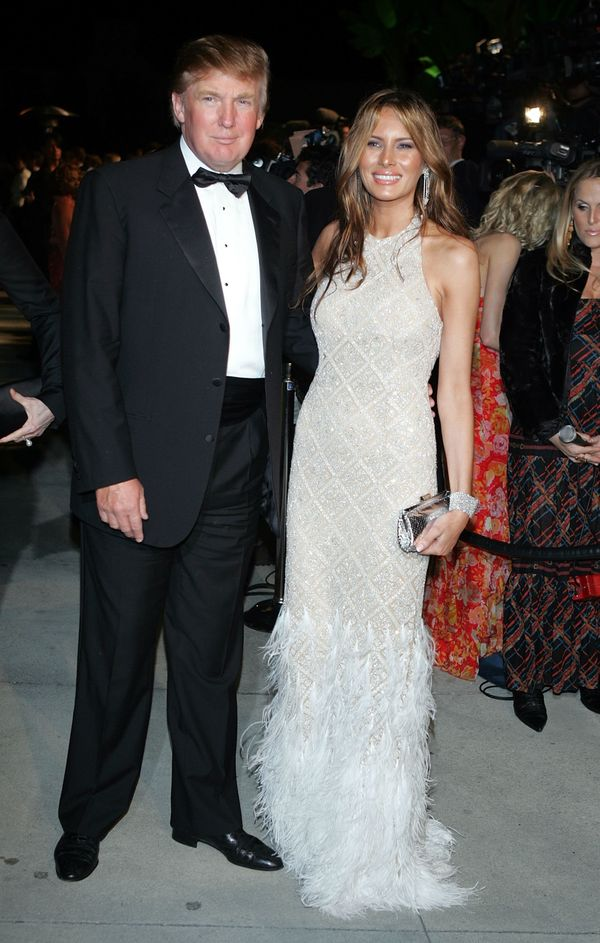 With Melania Trump at the Vanity Fair Oscar Party in West Hollywood, California.