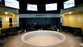 Employees work at the headquarters of Kaspersky Labs, a company which specialises in the production of antivirus and internet security software, in Moscow July 29, 2013. Picture taken July 29, 2013. REUTERS/Sergei Karpukhin (RUSSIA - Tags: SCIENCE TECHNOLOGY BUSINESS)