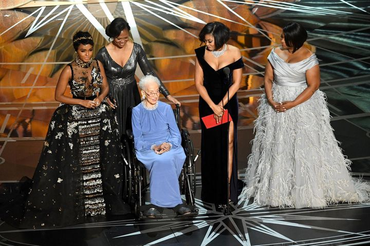 The incredible Katherine Johnson and the cast of Hidden Figures. #SquadGoals