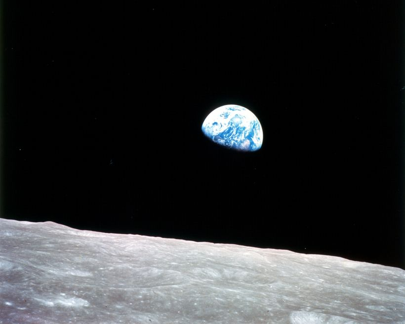 """The famous Apollo 8 """"Blue Marble"""" photograph from 1968 does a good job of capturing the ambition of the Chasing Genius initia"""