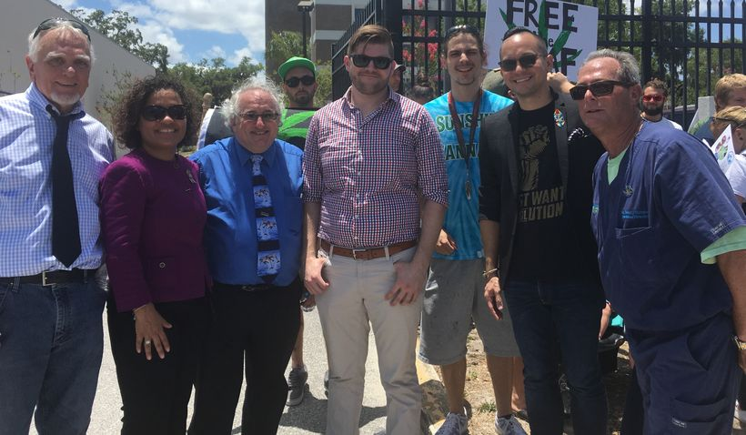 Speakers at a rally in Orlando included Judge Doug Bench(ret) Rep. Amy Mercado, Gary Stein, Anthony Livio, Michael Thompson,
