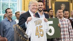 Cubs' Albert Almora Jr. Denies Flipping Off Donald Trump At White