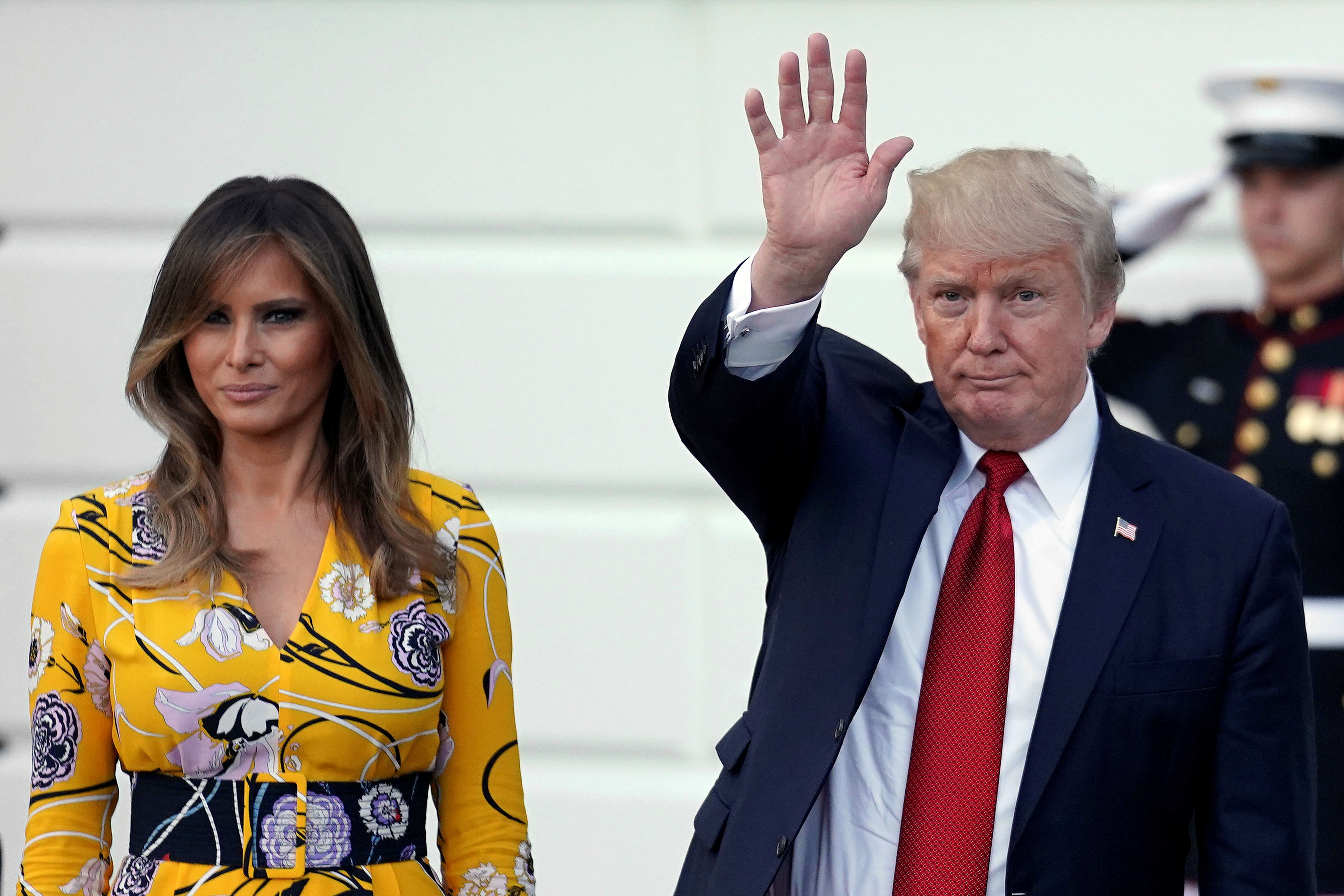 First lady Melania Trump and President Donald Trump.