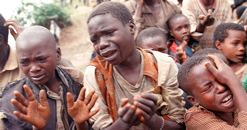 Victims of government-organized genocide in Darfur