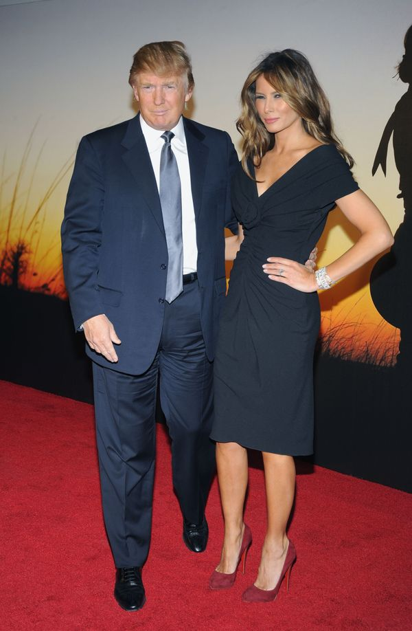 With Melania Trump at the MoMA Film Benefit Gala Honoring Baz Luhrmann in New York City.