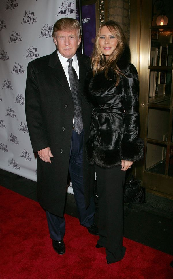 "With Melania Trump at the opening of broadway show ""A Little Night Music"" in New York City."