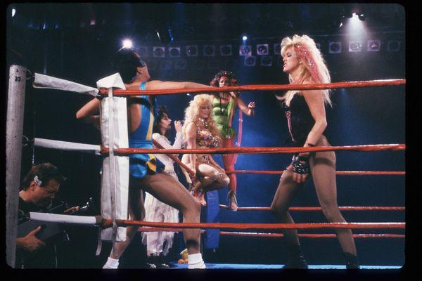 GLOW Girls wrestle.
