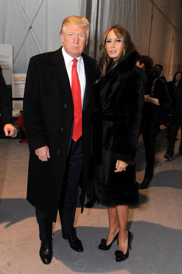 With Melania Trump at Mercedes-Benz Fashion Week in New York City.