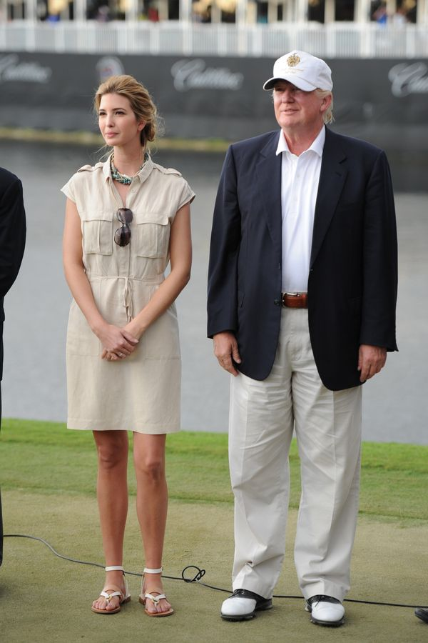 With Ivanka Trump at the World Golf Championships-Cadillac Championship at the Trump Doral Golf Resort & Spa in Dora