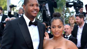 CANNES, FRANCE - MAY 16:  Professional basketball player Carmelo Anthony and television personality La La Anthony attend the 'Loving' premiere during the 69th annual Cannes Film Festival at the Palais des Festivals on May 16, 2016 in Cannes, France.  (Photo by Dominique Charriau/WireImage)
