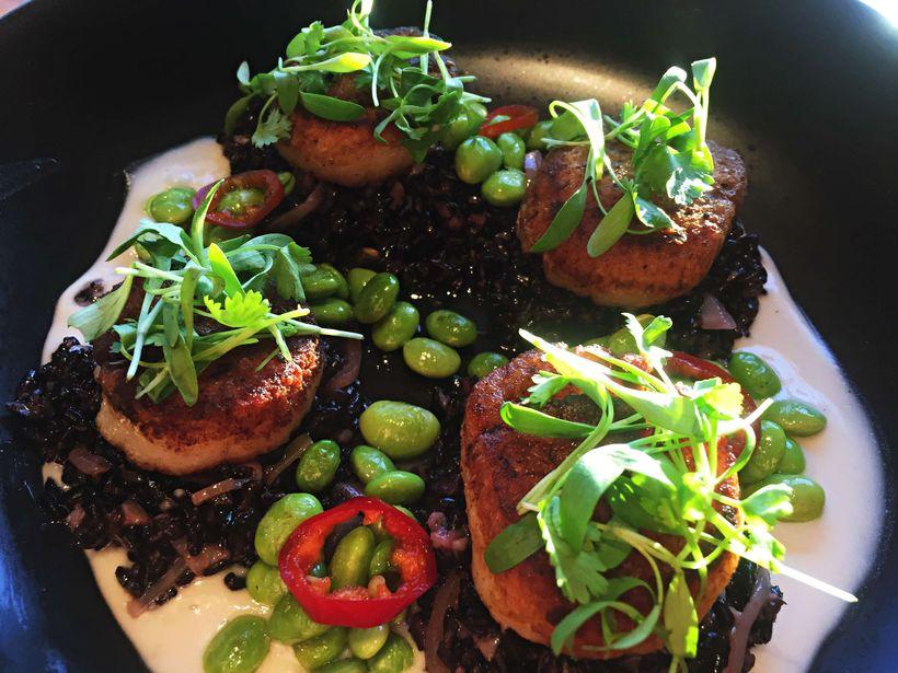 Cusp's pan-seared sea scallops