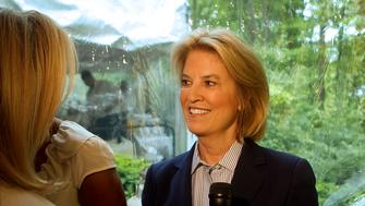 Fox News Channel host Greta Van Susteren attends the 19th Annual White House Correspondents' Garden Brunch in Washington, D.C., U.S., on Saturday, April 28, 2012. This year's event will raise money for the Citizens United for Research in Epilepsy (CURE) and The White Ribbon Alliance for Safe Motherhood organizations. Photographer: Andrew Harrer/Bloomberg via Getty Images