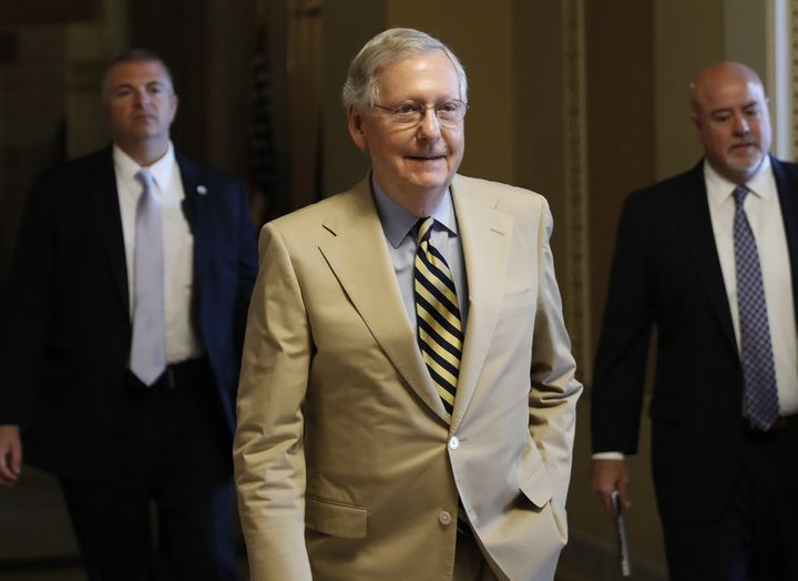 Senate Majority Leader Mitch McConnell, who announced June 27 that a vote on the Senate health care bill has been delayed unt