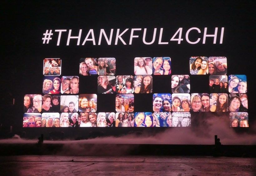 Fans Who tweeted #Thankful4Chi saw their faces on screen