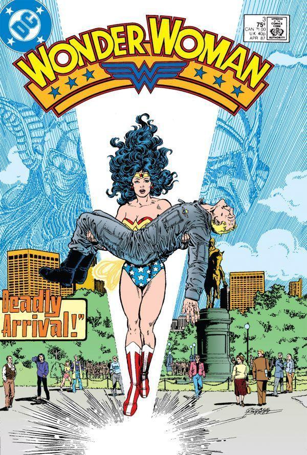 <em>Diana bringing an injured Col. Steve Trevor back to man's world.</em>
