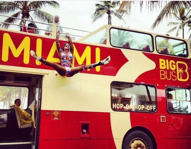 Drag Queen's Drop From Top Of Double-Decker Bus Into The Splits Has To Be Seen To Be