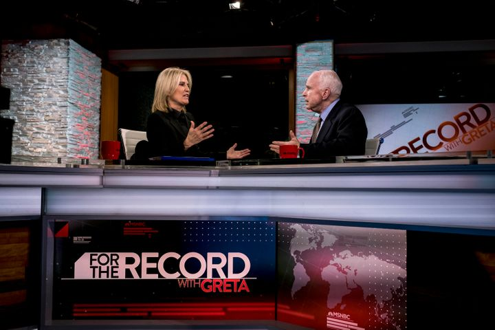 Greta Van Susteren kicked off her MSNBC program on Jan. 9 with an appearance by Sen. John McCain (R-Ariz.).