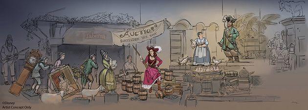 ディズニーランド、『カリブの海賊』の花嫁売買をカットへ ⇒